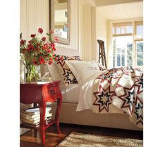 Not a huge fan of the quilt, but I love this room!!