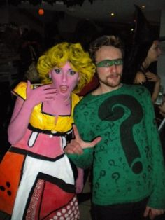 costume inspired by the works of Andy Warhol and Roy Lichtenstein