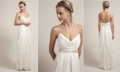 Simple and elegant wedding gown