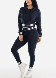 Check out this great offer I got! 2020 Fashion Trends, Spring Fashion Trends, Jogger Pants, Joggers, Girls Blue Dress, Navy Color, New Wardrobe, Elastic Waist, Long Sleeve Tops