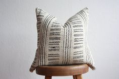 Authentic African Mudcloth Throw Pillow