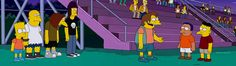 """Simpsons bullies come out and play for Warriors parody:    Bart Simpson stands up for Nelson and he makes him an honorary bully in """"The Winter of His Content."""" They take him to a Bully Summit in a Warriors parody complete with theme song.    #simpsons #tv #cartoon #animation #funny #parody   http://l7world.com/2014/03/simpsons-bullies-come-play-warriors-parody.html"""