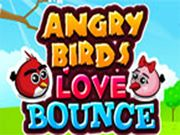Angry Birds Love Bounce    You know, Angry Birds Fall in Love!!! Their love is in air!!! Take the male Angry Bird's Heart to its beloved pair. Help them to unite beyond the obstacles. Use mouse to interact.  http://ezarcade.net/games/angry-birds-love-bounce/