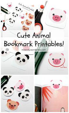 FREE printable animal bookmark
