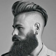 Pompadour with Beard