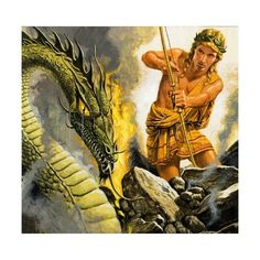 Apollo Slaying Python Giclee Print by Roger Payne