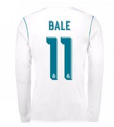 Billiga Real Madrid Gareth Bale 11 Hemmatröja 17-18 Långärmad Real Madrid Gareth Bale, Bale 11, Manchester United, Ronaldo, Soccer, Tops, Goaltender, Leotards, Football Soccer