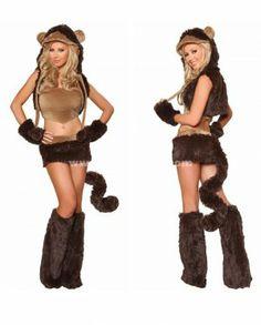 2014 New Halloween Uniforms,Naughty Monkey Cosplay Animal Party Costumes