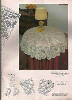 "Photo from album ""Рукоделие"" on Yandex. Filet Crochet, Crochet Diagram, Crochet Chart, Thread Crochet, Crochet Motif, Crochet Doilies, Crochet Patterns, Mantel Redondo, Crochet Tablecloth"