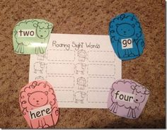 Roaring Sight Words. March lion/lamb themed centers