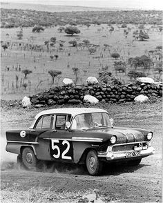 1957 Vauxhall Victor (F Type, at the 1959 East African Safari Rally in Kenya Product Development Manager, Classic Cars British, Vintage Race Car, African Countries, Nairobi, Rally Car, African Safari, East Africa, Kenya