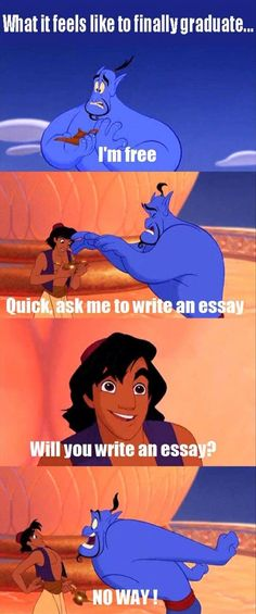 I'm still stuck writing essays...