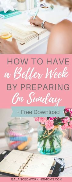 Did you know that how you spend your Sunday has a huge impact on your week? Learn how to organize your Sunday so you have a smoother, more productive week. Work Productivity, Dinners To Make, Good Week, Homemade Cleaning Products, Healthy Food Options, Time Management Tips, Work Life Balance, The Hard Way, Working Moms