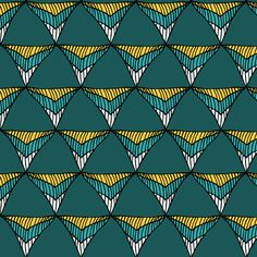 Triangles fabric by pond_ripple on Spoonflower - custom fabric
