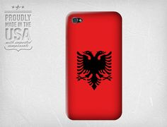 Albanian Flag for Iphone 4.  - Pinterest users can use the coupon code PINSHIP for FREE SHIPPING!