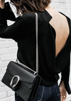 gucci dionysus black chain bag rachel comey wide leg jeans street style inspo minimal fashion blogger fur horsebit loafer Instagram (7 of 14)