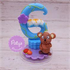 Vela decorada Luna Petunia - Festa Infantil - Paty's Biscuit