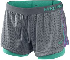 Nike Women's Colored Compression Shorts | Nike Double Up Training Shorts - Womens