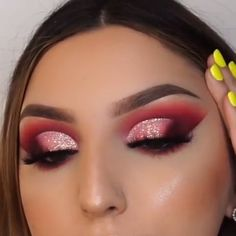 "History of eye makeup ""Eye care"", quite simply, ""eye make-up"" is definitely a subject by Glam Makeup, Red Eye Makeup, Eye Makeup Steps, Colorful Eye Makeup, Pink Makeup, Smokey Eye Makeup, Makeup Inspo, Makeup Eyes, Doll Eye Makeup"