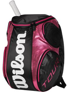 Finally! Some tennis bags in fun colors! Love this backpack from Wilson. $49.95