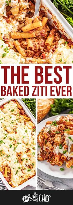 This is seriously the Best Baked Ziti Ever. Your family is going to love the homemade meat sauce, and that ricotta and cream cheese topping takes it to the next level! Casserole Recipes, Pasta Recipes, Beef Recipes, Dinner Recipes, Cooking Recipes, Recipies, Spaghetti Recipes, Yummy Recipes, Italian Dishes