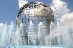 Unisphere from the 1964-65 NY World's Fair in Queens, it's a 12-story high structure.