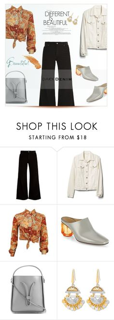 """""""Wide-Leg Denim"""" by letiperez-reall ❤ liked on Polyvore featuring Eve Denim, Gap, The Row, 3.1 Phillip Lim, Steve Madden, polyvoreeditorial, denimtrend and widelegjeans"""