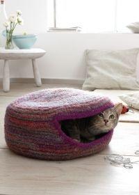 Häkelfilzen Katzenhöhle