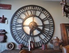 Large scale decorative iron clock. Does anybody really know what time it is?