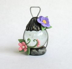 Miniature Fairy Lantern, Polymer Clay, masa flexible: