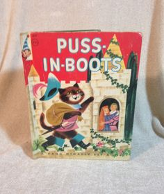 Puss In Boots   Rand McNally Elf Book 1955 by AmericanVintageAve on Etsy
