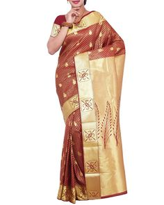 f600e3c7f4d41a Look Gorgeous And Sensational As You Deck Up This Kanjivaram Silk Saree  Exclusively From Simaaya Fashions