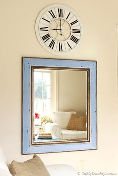 Mirror makeover using chalk paint, glaze and wax. Step by step photo tutorial | In My Own Style