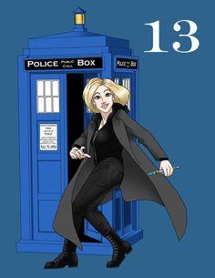 The Thirteenth Doctor By Smooz @WickedREDart