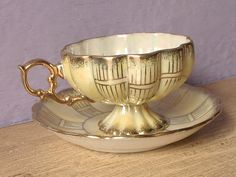 Vintage Porcelain tea cup and saucer Japanese tea by ShoponSherman