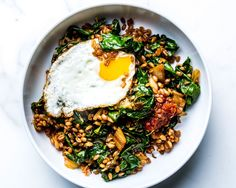 This kimchi stir-fry is instant comfort in a grain bowl.