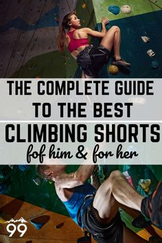 Climbing shorts are great for outdoor climbing when it gets hot. Learn how to choose the best climbing shorts for your needs and find out which are 5 top picks on the market (that will also complement your climbing outfit). I Rock climbing for women I Rock climbing tips I Bouldering training I Rock climbing training I