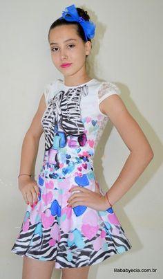 Saia e Blusa Infanto Juvenil Miss Cake Doce Princesa 530470