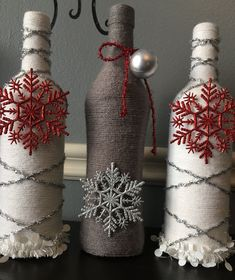 16 Diy Wine Bottle Christmas Decoration - Home Decor Interior