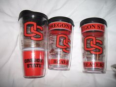 Tervis OREGON STATE UNIVERSITY travel mugs. Two 16 oz, and one 24 oz #oregonstate #beavers