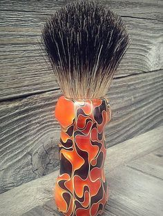 The Flame Acrylic Badger Hair Hand Turned Shaving by TheTexasGypsy, $60.00
