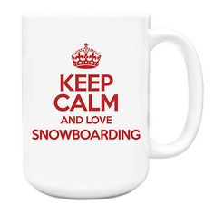 Red keep calm and love snowboarding big 15oz mug txt 1034,  View more on the LINK: http://www.zeppy.io/product/gb/2/222106105445/