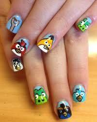 Angry Birds  uñas decoradas - Buscar con Google