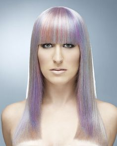 The Goldwell® Hair Color team announced the 2014 Color Zoom Challenge U. Scores of applicants … Celebrity Hairstyles, Cool Hairstyles, Berlin, Coloured Hair, Hair Images, Purple Hair, Cut And Color, Hair Looks, Hair Lengths