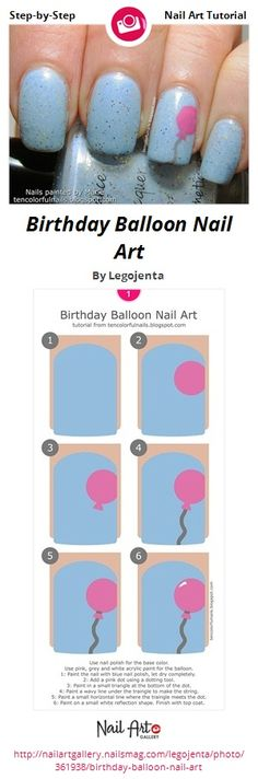 Birthday Balloon Nail Art by Legojenta from Nail Art Gallery