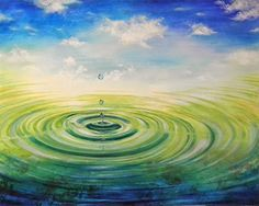 "Abstract Artists International: Abstract Water Ripple Art Painting ""Infinity"" by Contemporary Realism Artist Carol A. McIntyre"