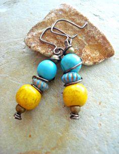 Boho Earrings  Boho Jewellery  Hippie Earrings  by HandcraftedYoga, $21.00