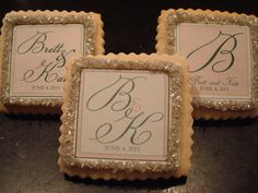 Wedding Favors Personalized Shortbread Cookies Blush Pink Custom Colors by StoneHouseOven on Etsy