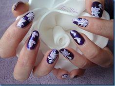 NAIL ART Fleurs et papillons de Fée Main