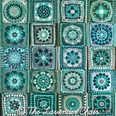 Mandala CAL Final Counts Crochet Motif Patterns, Granny Square Crochet Pattern, Crochet Blocks, Crochet Mandala, Crochet Squares, Granny Square Blanket, Granny Squares, Doodle Patterns, Crochet Home
